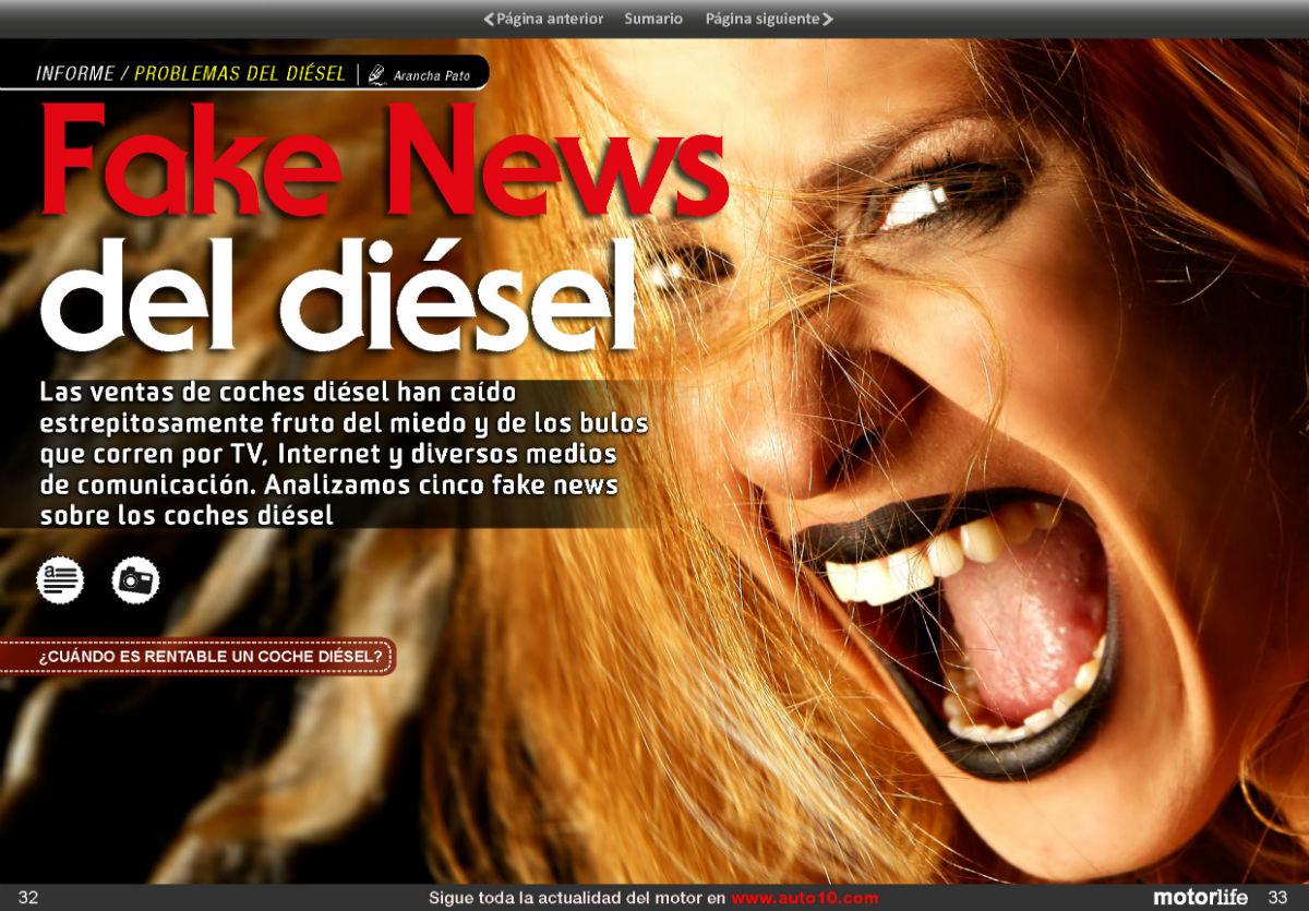 Fake news sobre el diésel